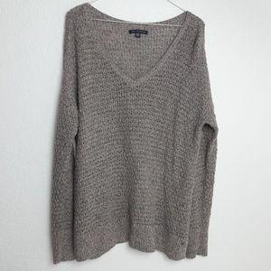 American Eagle Tan Knit Sweater Medium Winter